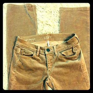 NWOT Size 00P Corduroy pants